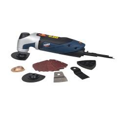 Elettroutensile multiuso 250w - taglia/leviga/raschia - impulsi al minuto 11000-18000 completo di accessori