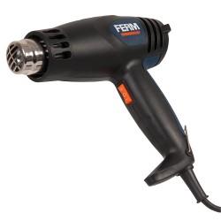 Pistola ad aria calda 2000w - flusso aria 300-500 l/min - temperatura aria 450-600°c completa di accessori