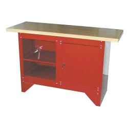 Banco da lavoro con ripiano in legno 1.372x508x865 mm