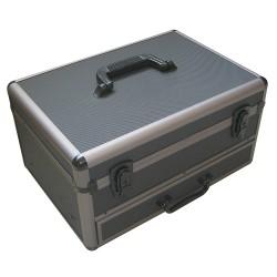 Bauletto in alluminio con cassetto